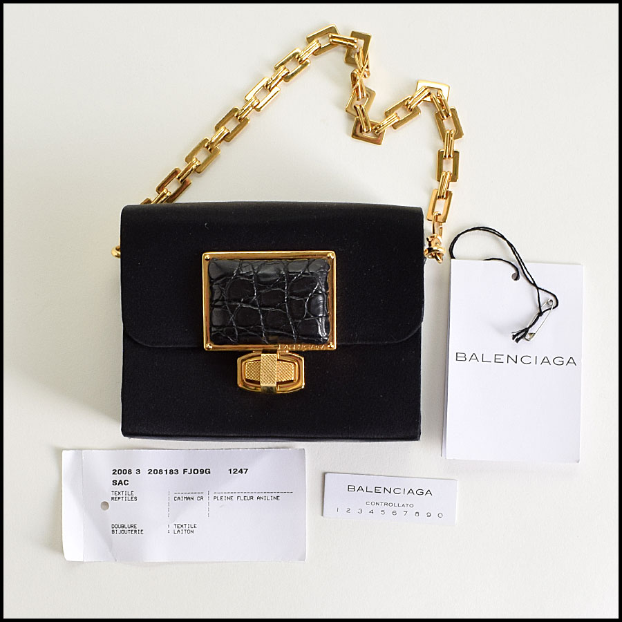 RDC9327 Balenciaga Satin Evening Bag includes