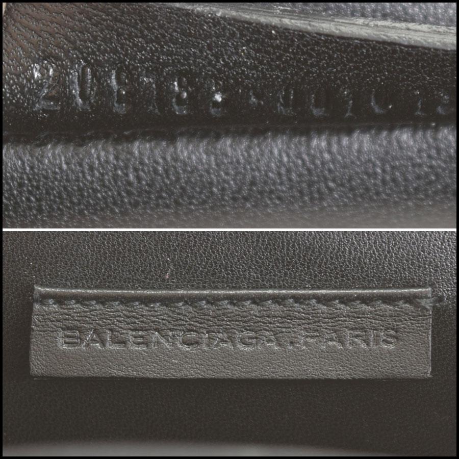 RDC9327 Balenciaga Satin Evening Bag tag