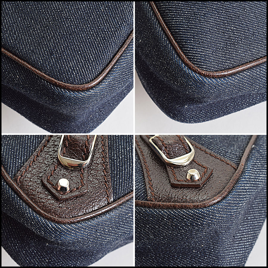 RDC9021 Balenciaga Denim Bag corners