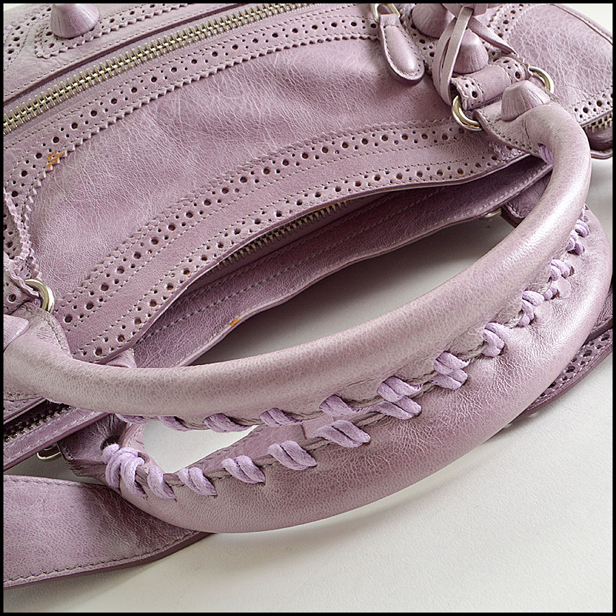 RDC8347 Balenciaga Lilac Brogues Giant City handle