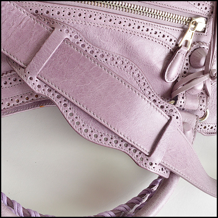 RDC8347 Balenciaga Lilac Brogues Giant City handle 2