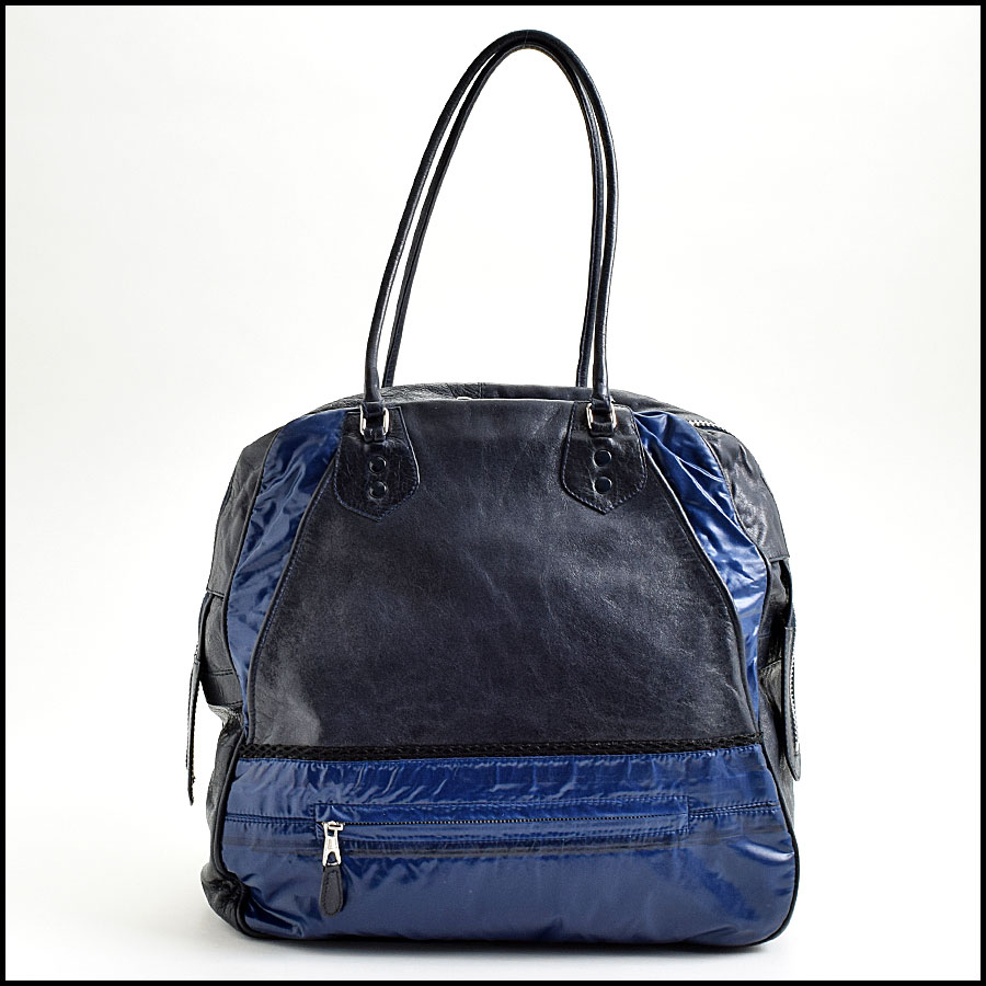 RDC8975 Balenciaga Blue Parachute Bag back