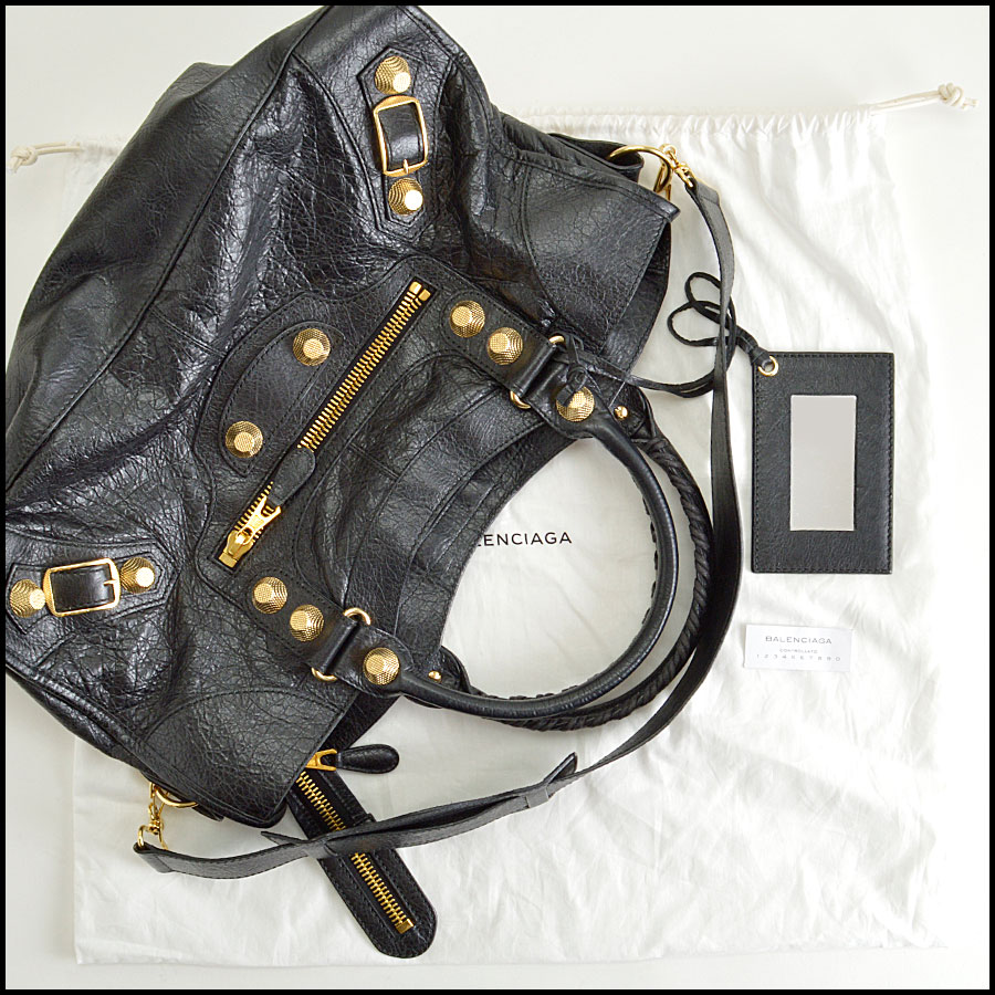 RDC8296 Balenciaga Black Giant Gold Hardware Part Time extras