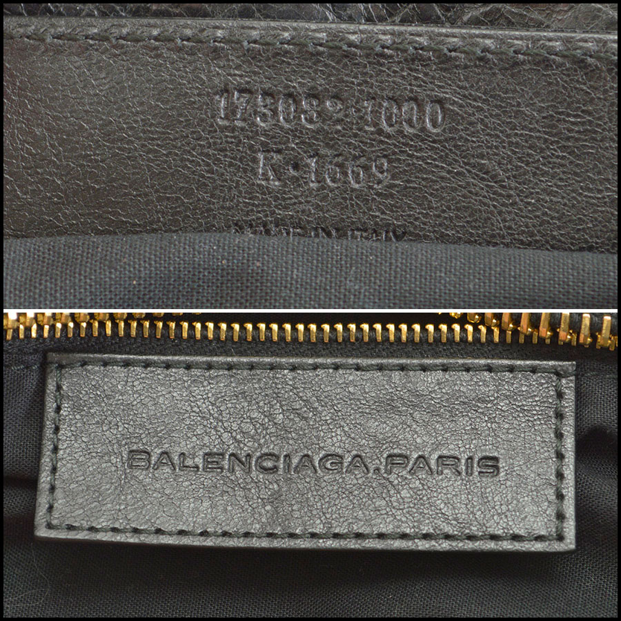 RDC8296 Balenciaga Black Giant Gold Hardware Part Time tag