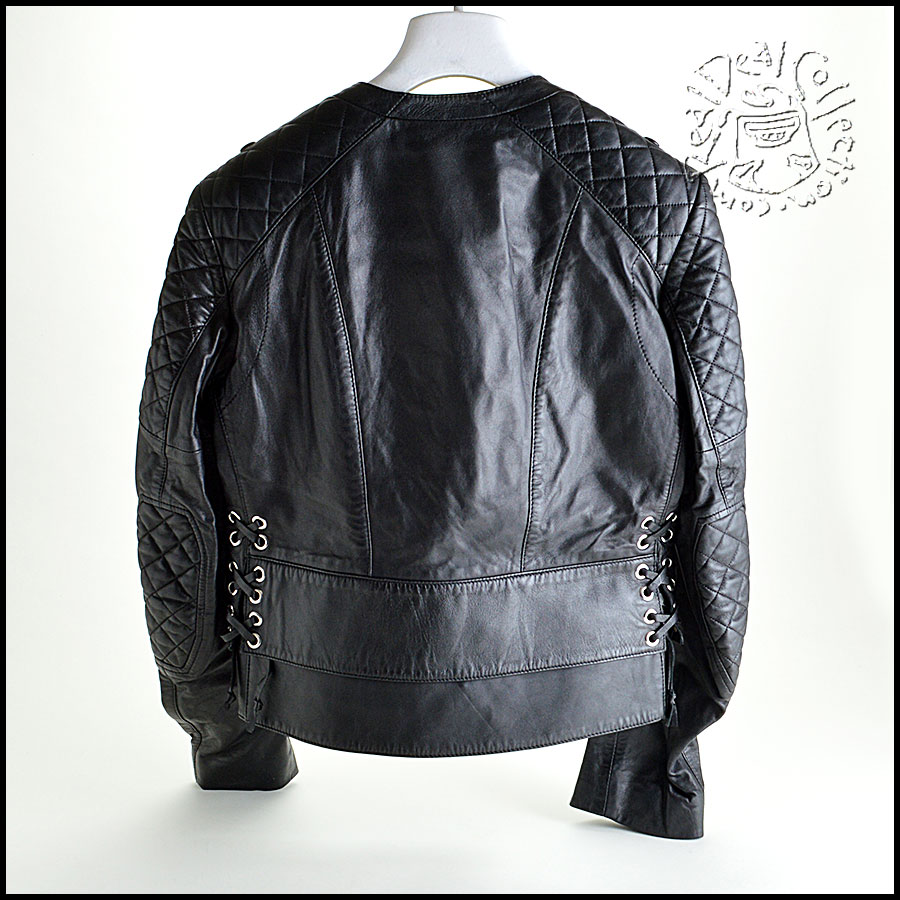Balenciaga Quilted Leather Jacket Back