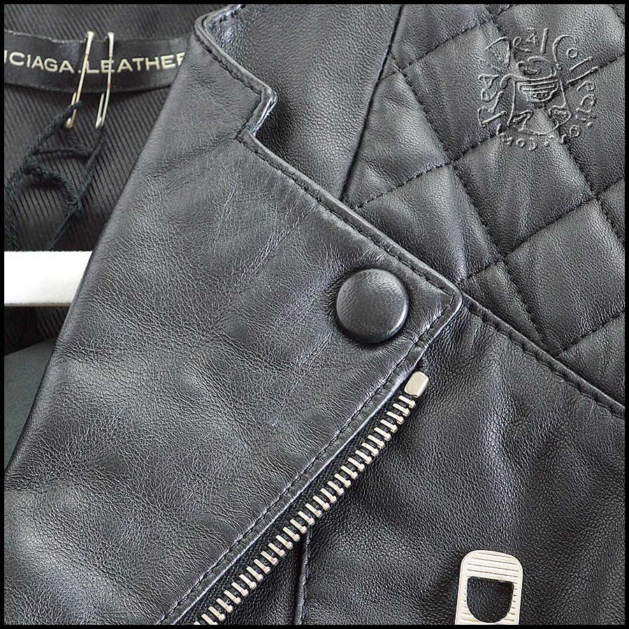 Balenciaga Quilted Leather Jacket Collar