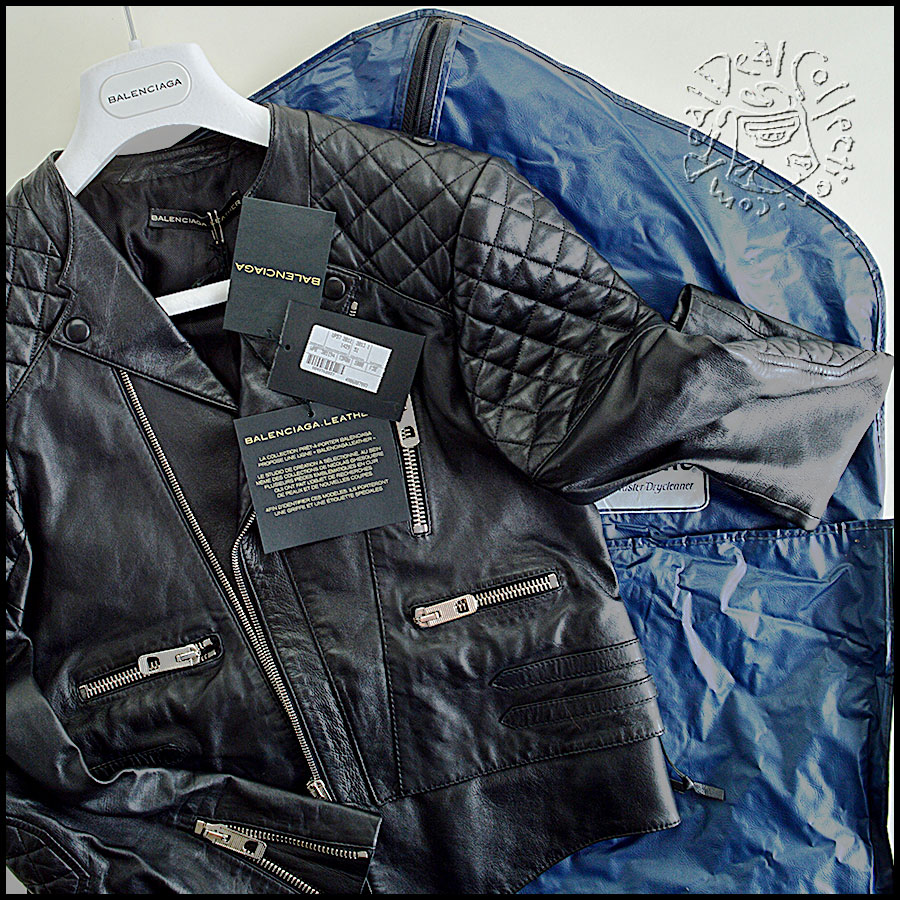Balenciaga Quilted Leather Jacket Includes