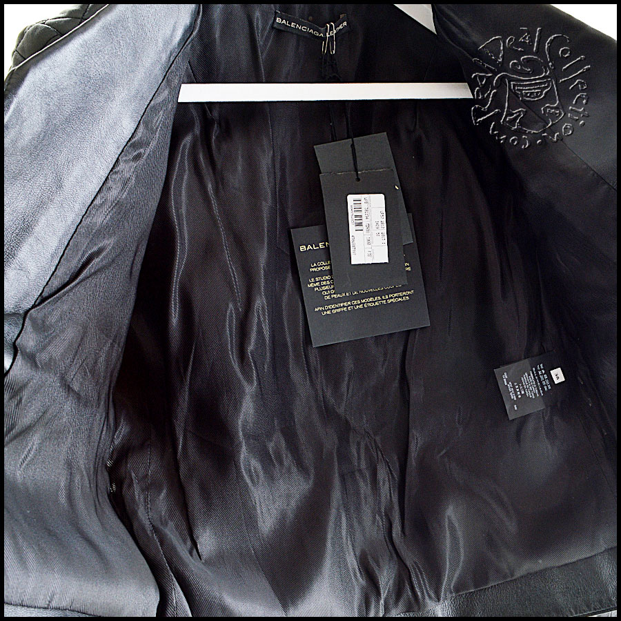 Balenciaga Quilted Leather Jacket Inside