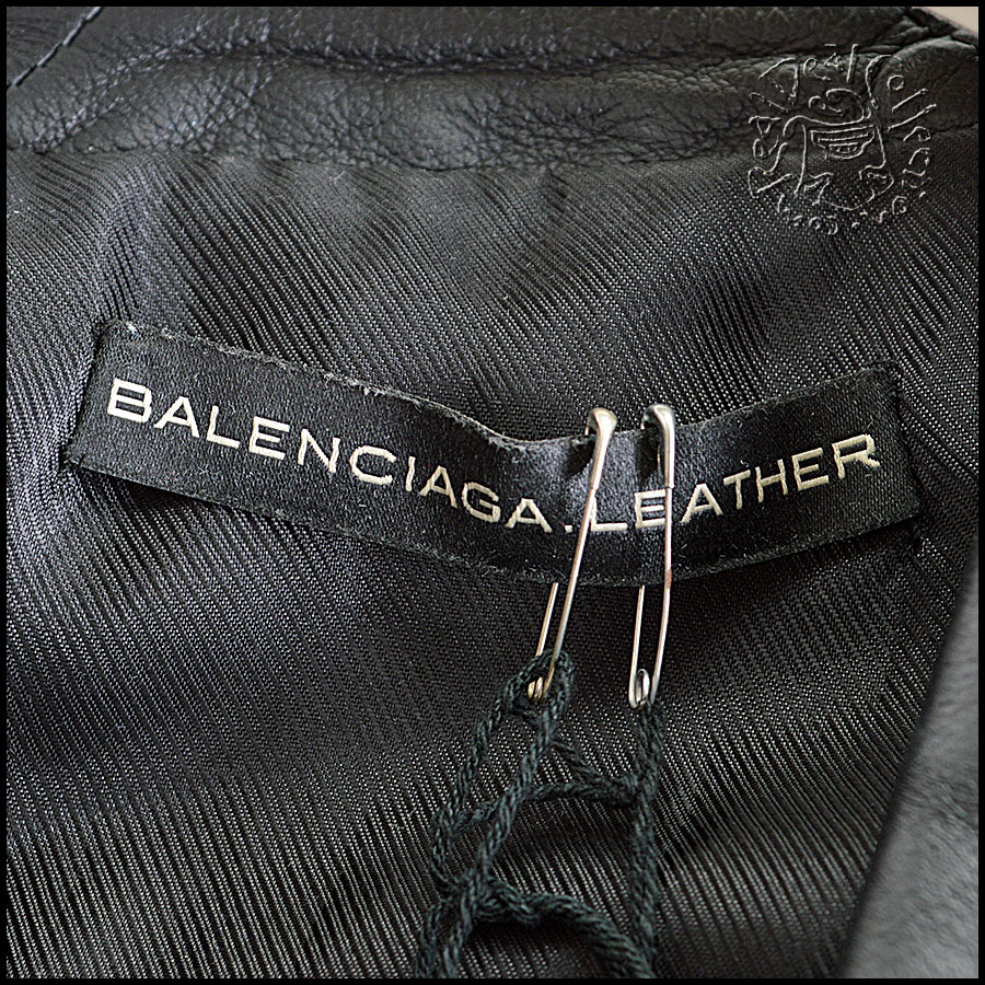 Balenciaga Quilted Leather Jacket Tag