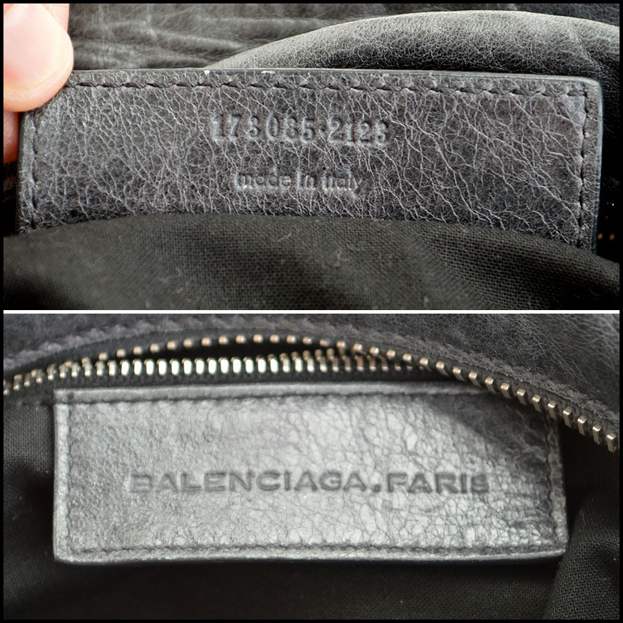 Balenciaga Plomb Silver Giant Brief Tag