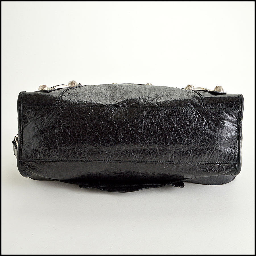 Balenciaga Black Silver Giant City Bottom