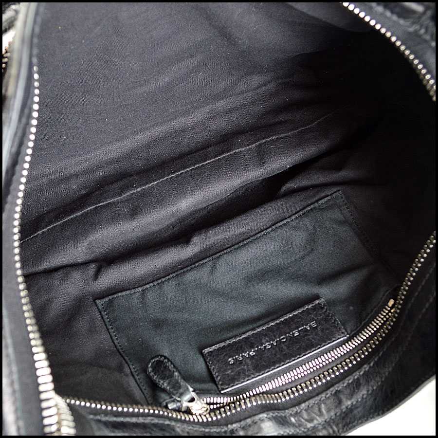 Balenciaga Black Silver Giant City Inside