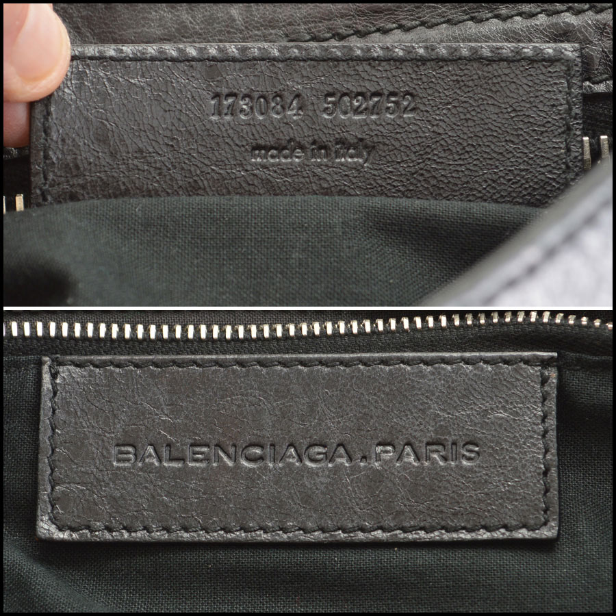 Balenciaga Black Silver Giant City Tag