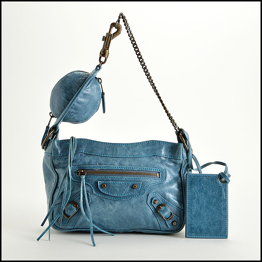 Balenciaga Teal Planet Shoulder Bag