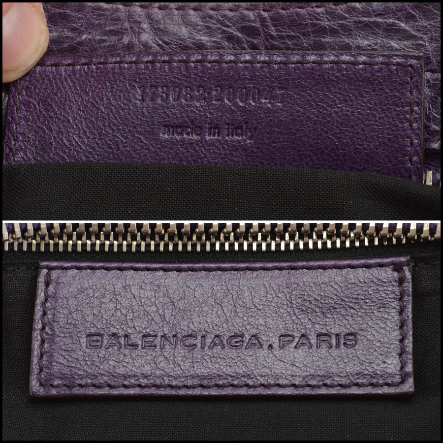 RDC7622 balenciaga violet part time tag
