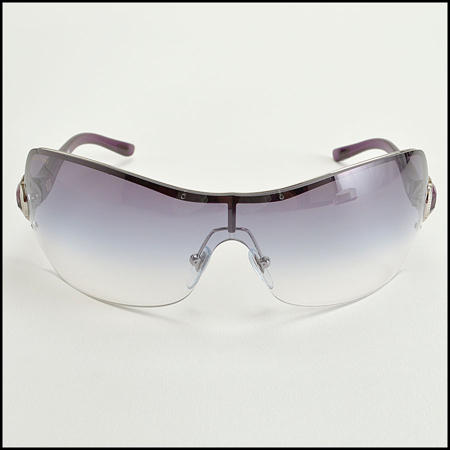 RDC8383 Bulgari purple and brown modern aviators