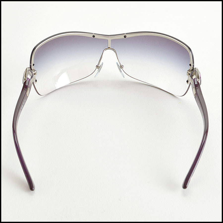 RDC8383 Bulgari purple and brown modern aviators back