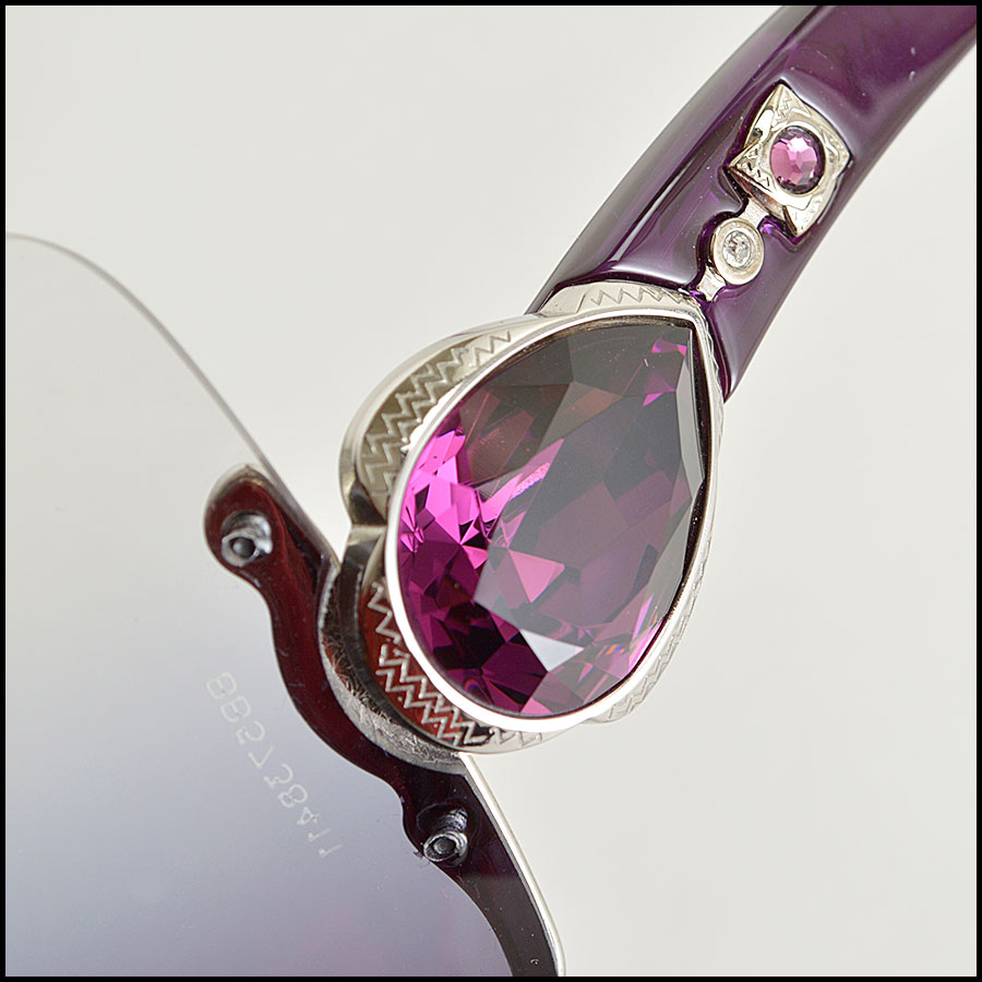 RDC8383 Bulgari purple and brown modern aviators close up