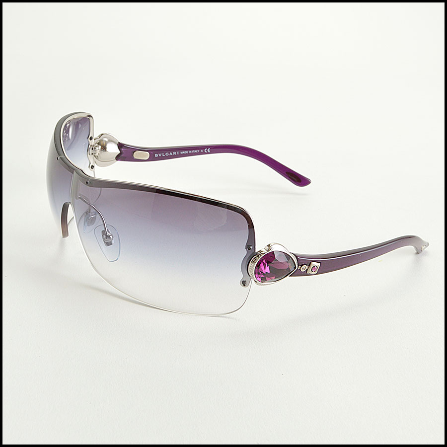 RDC8383 Bulgari purple and brown modern aviators side