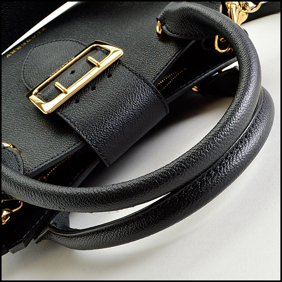 RDC8042 Burberry Black small tote handle 2