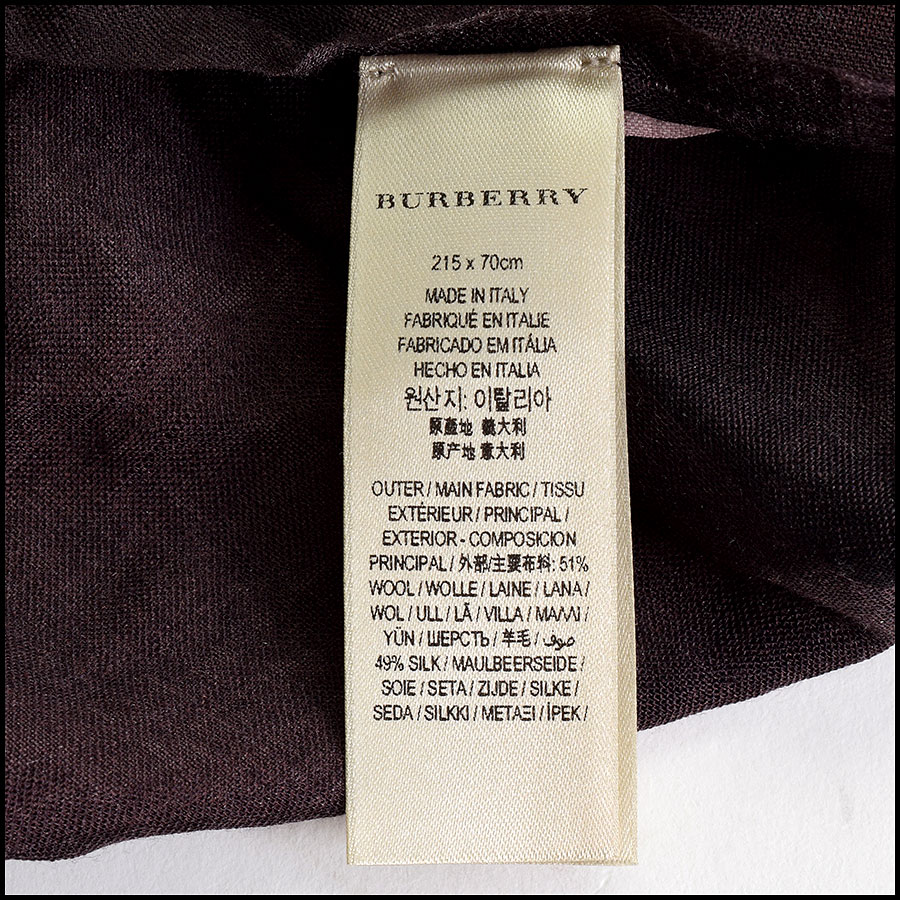 RDC9638 Burberry Pink Ombre Nova Check Wool & Silk Scarf tag 2