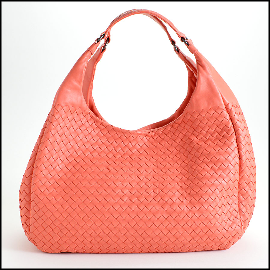 Bottega Veneta Coral Intrecciato Campana Hobo Shoulder Handbag