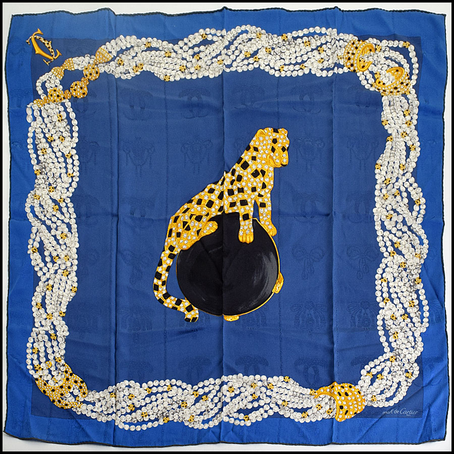 RDC9030 Cartier Panther Square Scarf