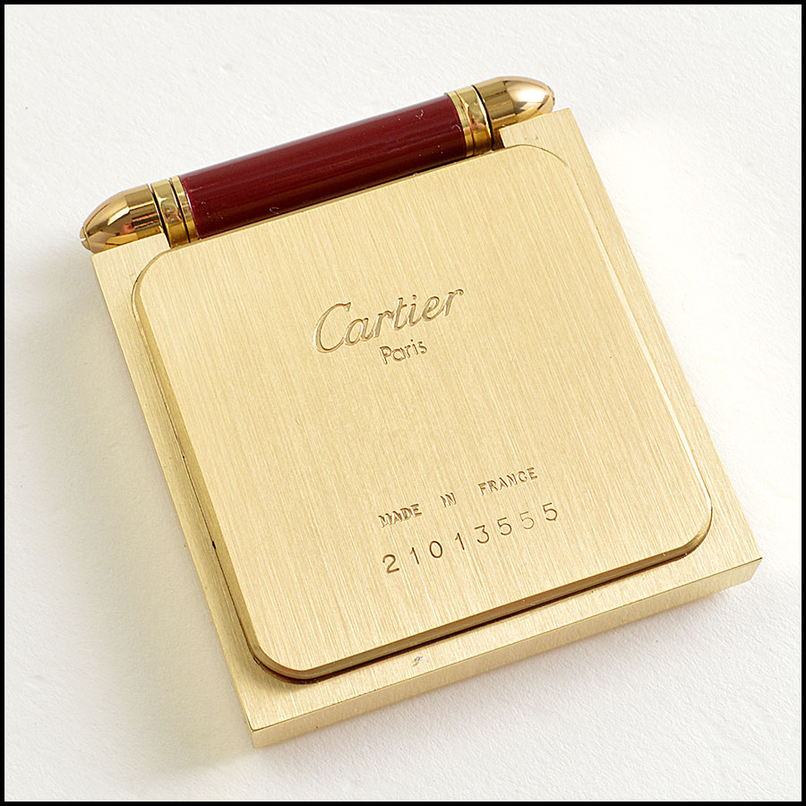 Cartier Travel Clock Back View