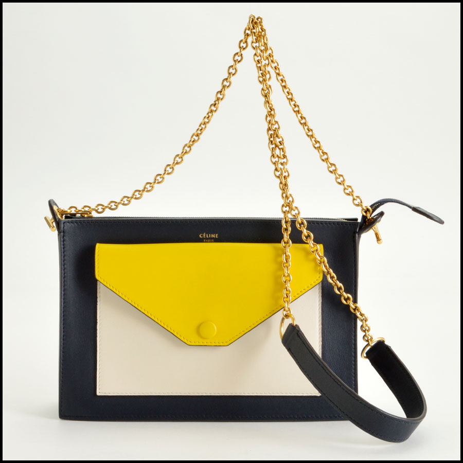 RDC8028 Celine tri color pocket bag