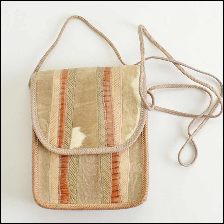 RDC8616 Carlos Falchi Beige crossbody Bag