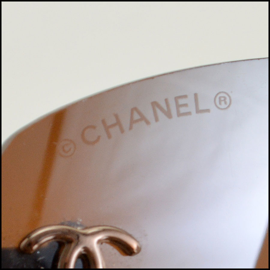 Chanel Brown Rimless Sunglasses Tag2