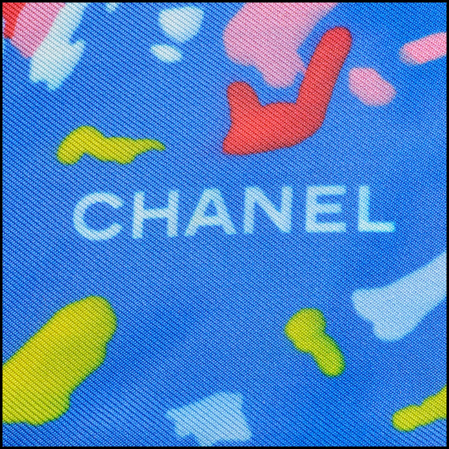 RDC8755 Chanel abstract airplane scarf tag 3