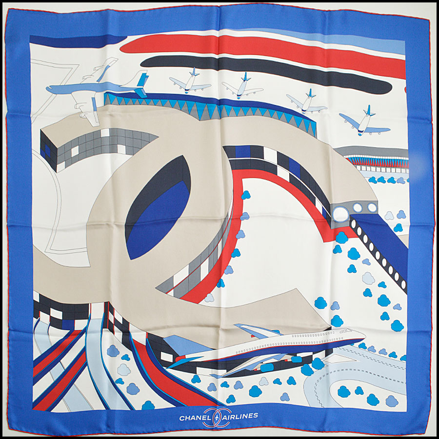 RDC8800 Chanel Red/Blue Airlines Scarf