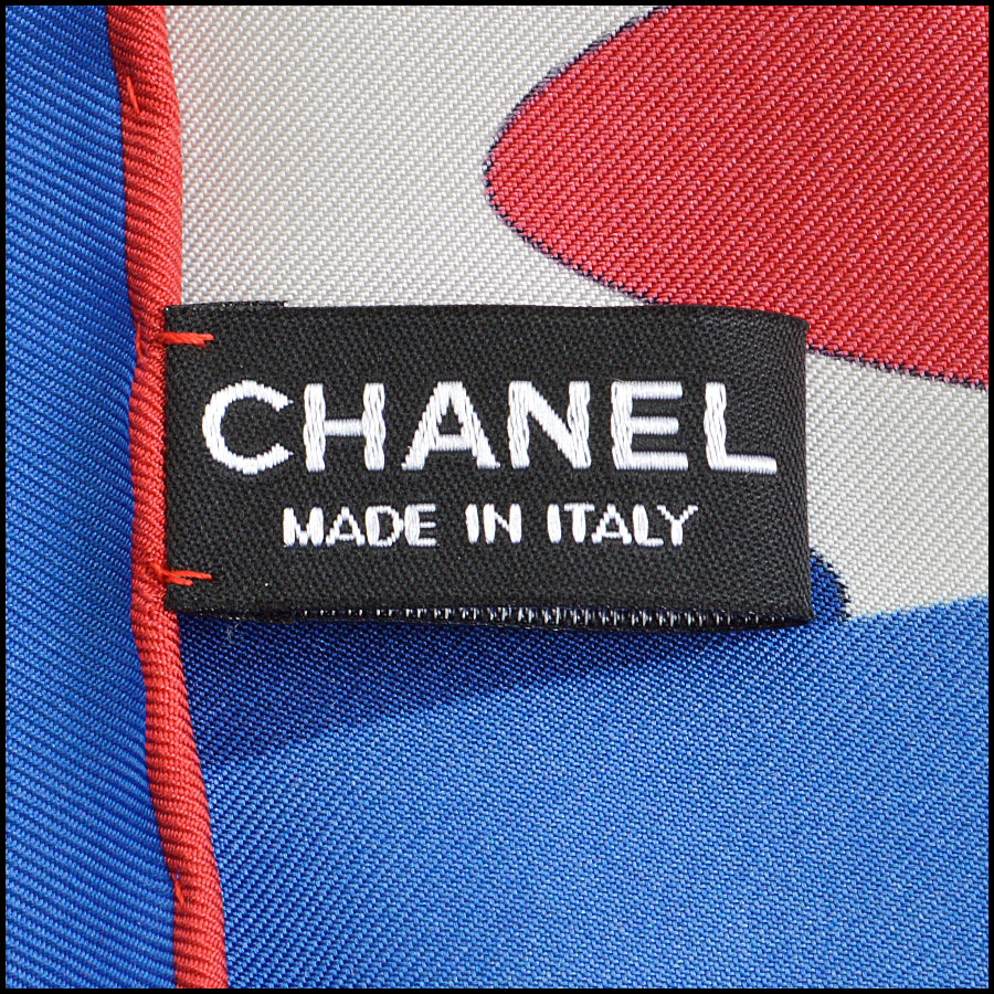 RDC8800 Chanel Red/Blue Airlines Scarf tag 1