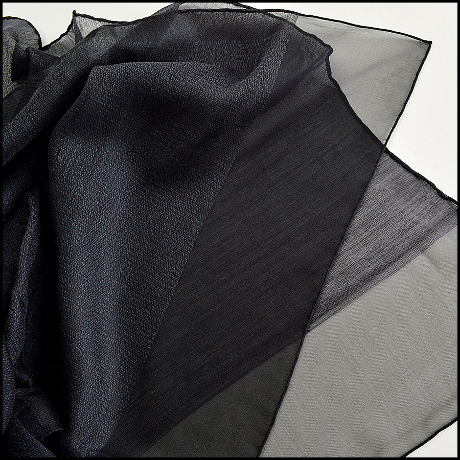 Chanel Silk and Cashmere Long Scarf Closeup
