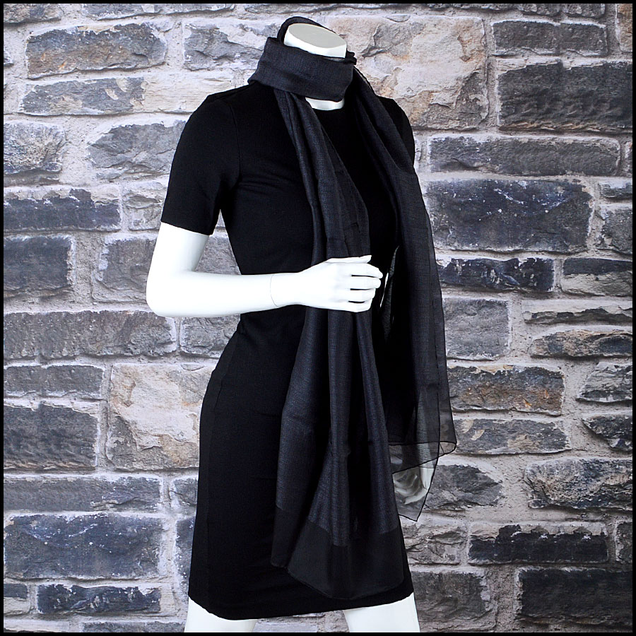 Chanel Silk and Cashmere Long Scarf Mannequin