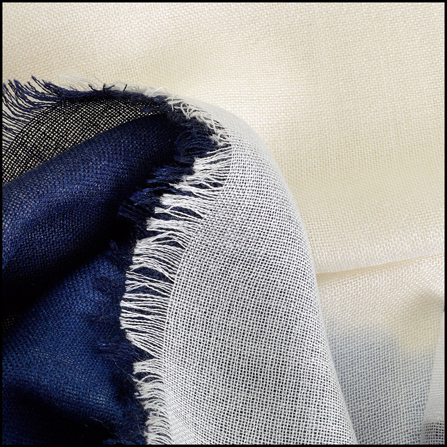 RDC8023 Chanel Ombre Cashmere Stole close up
