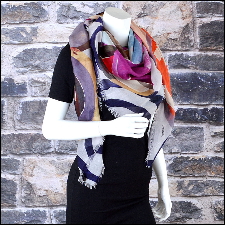 Chanel Multicolor GM Shawl Scarf mannequin