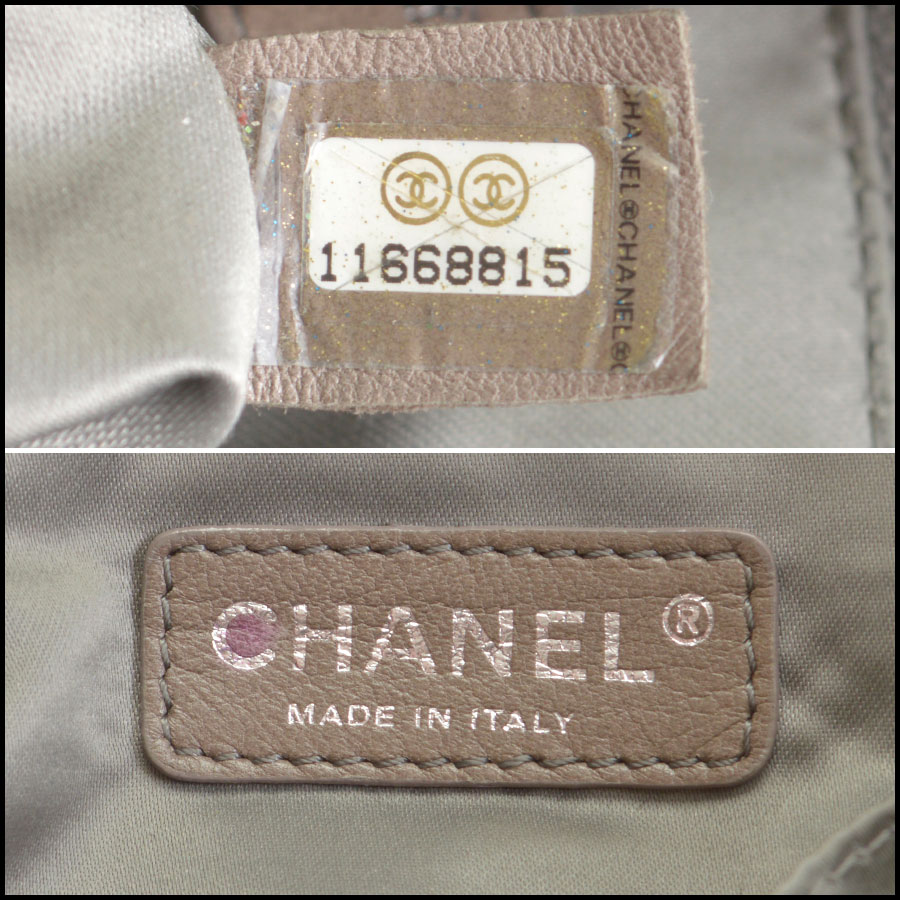 RDC8671 Chanel Quilted Tote tag