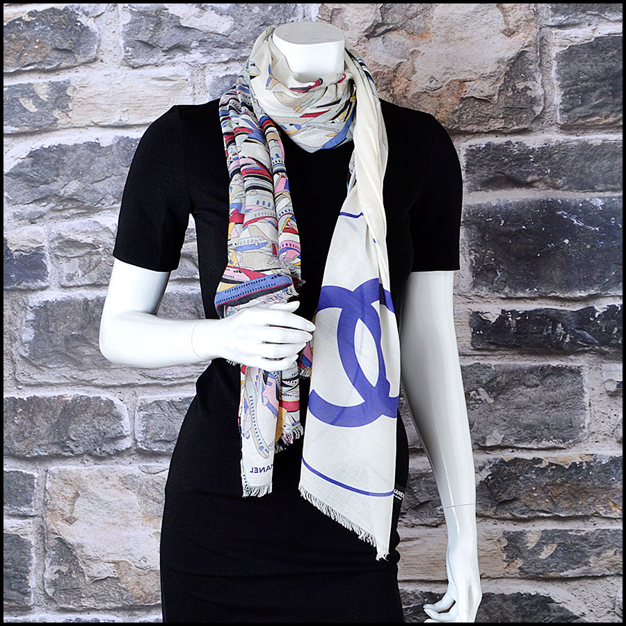RDC8009 Chanel Airlines Airplanes Long Scarf Model
