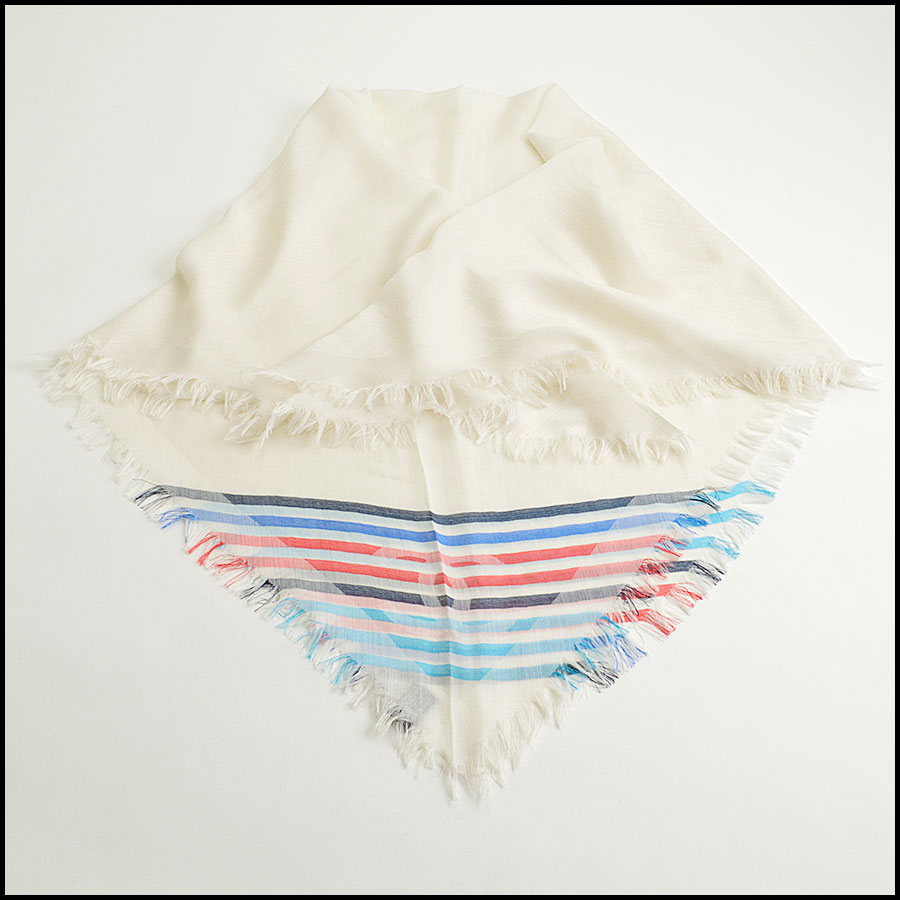 RDC8773 Chanel striped Triangle Scarf