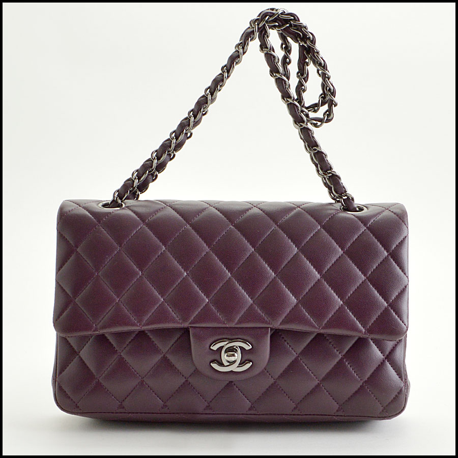 rdc8459 Chanel eggplan 2.55 quilted double flap