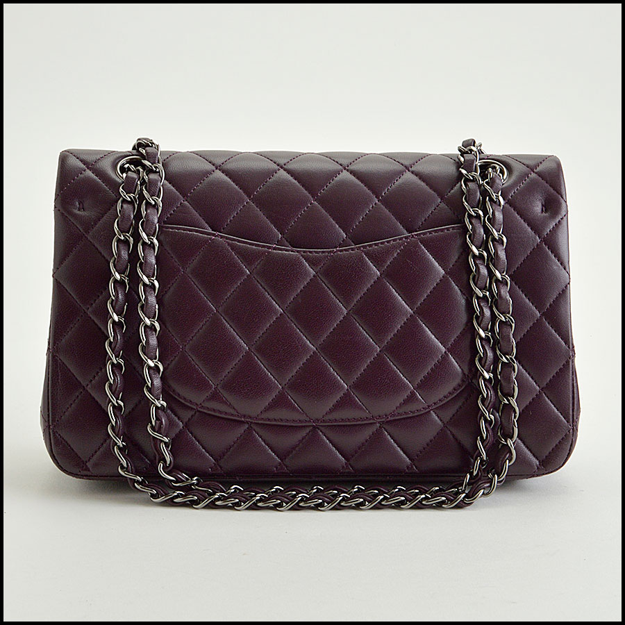 rdc8459 Chanel eggplan 2.55 quilted double flap back