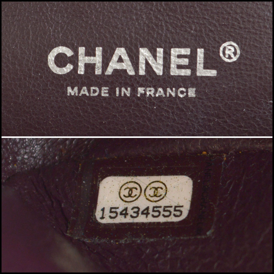 rdc8459 Chanel eggplan 2.55 quilted double flap tag 2