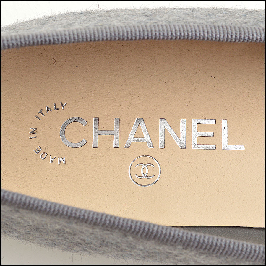 RDC8862 Chanel Flannel ballet flats tag 2