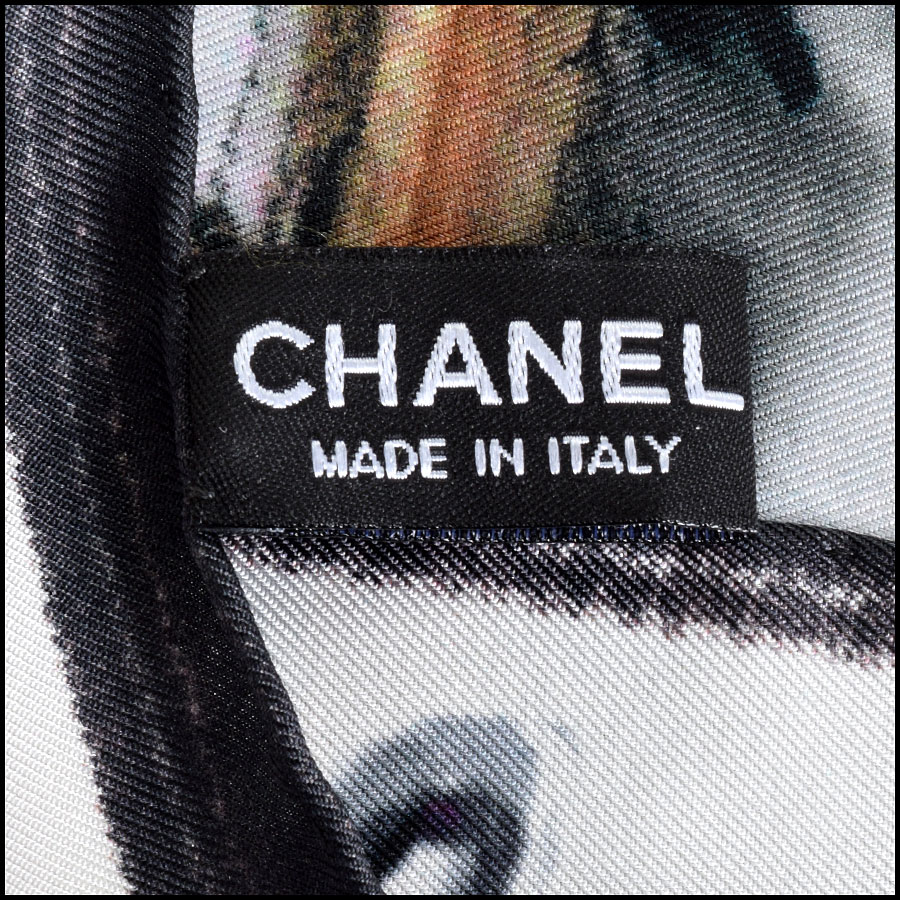 RDC9041 Chanel Front Row Scarf tag 2
