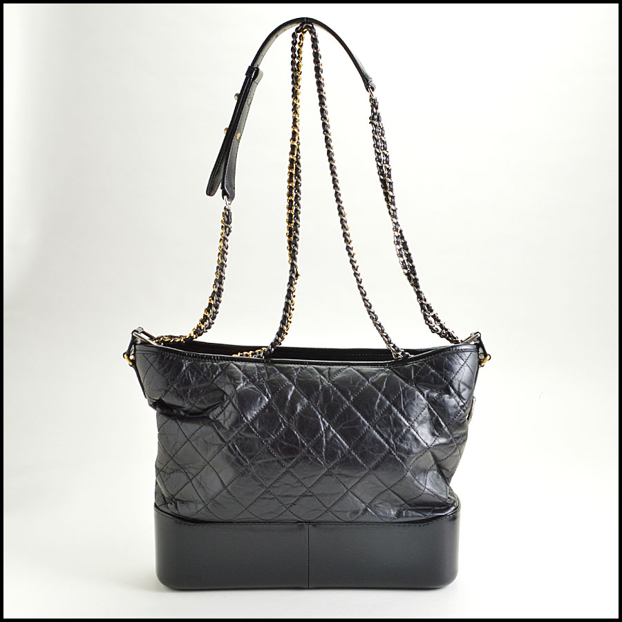 RDC8599 Chanel Black Aged Calfskin Gabrielle Bag back