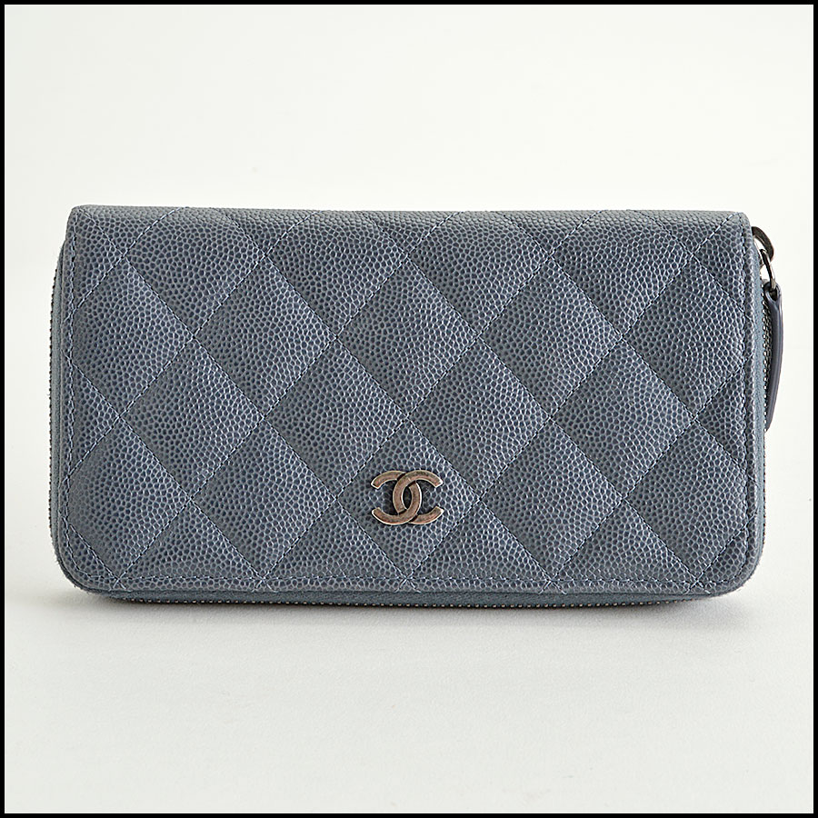 RDC8167 Chanel Grey Caviar Leather Small Zip Wallet