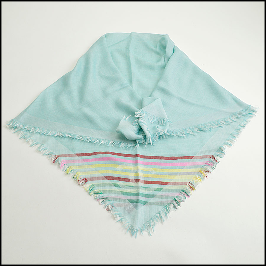 RDC8775 Chane Mint striped Triangle Scarf