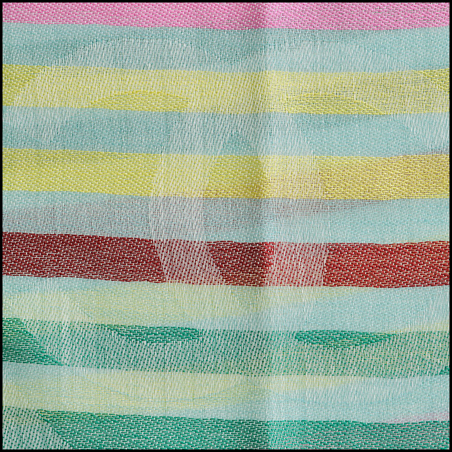 RDC8775 Chane Mint striped Triangle Scarf logo